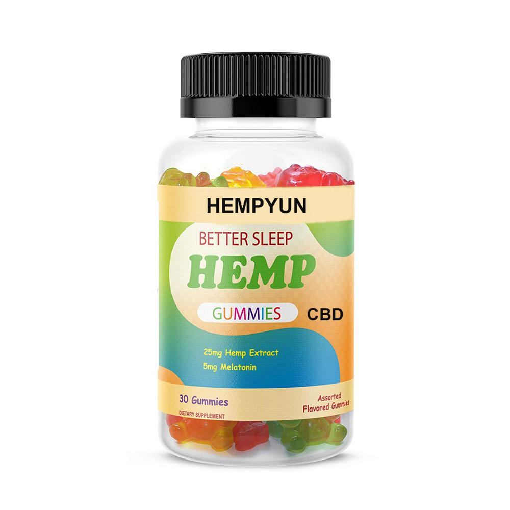 OEM Hemp CBD Gummies Candy For Pain, Stress & Anxiety Omega 3,6,9, Vitamin B,E Made in China