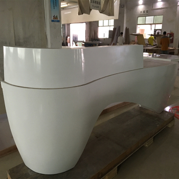 White solid surface information counter desk for office