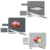 New Design Boreal Europe style 3 pcs Plastic non-slip food icons index kitchen Chopping Cutting Board With stand