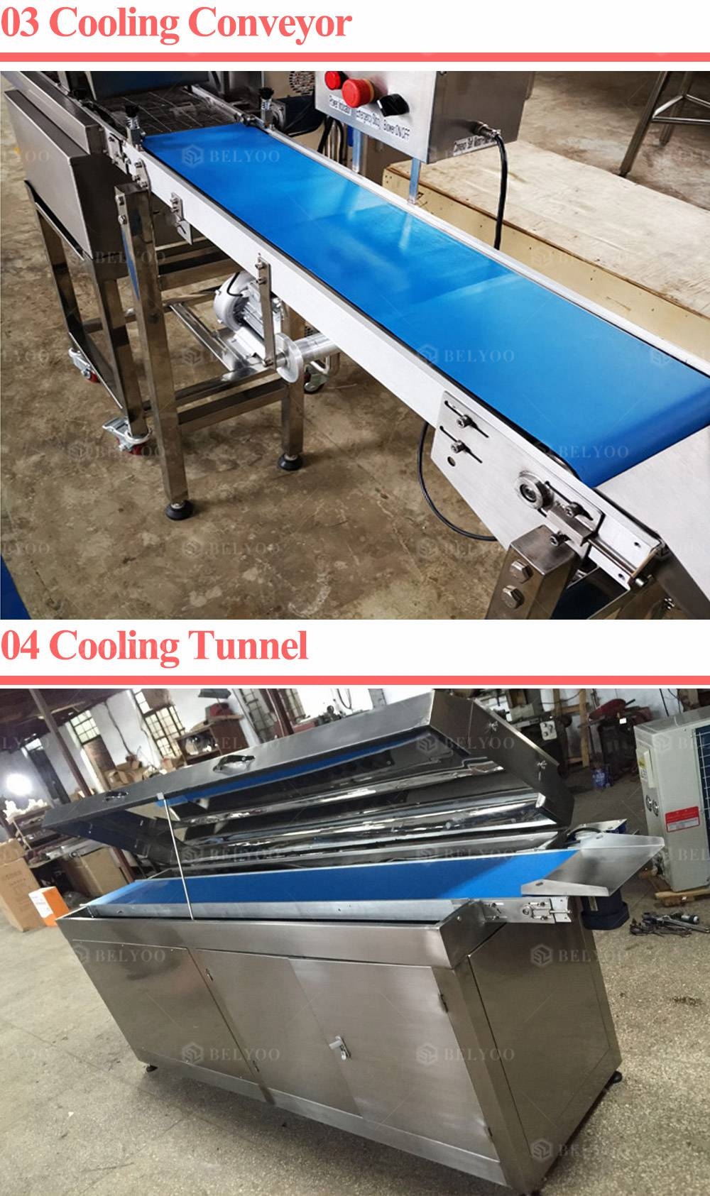 Chocolate Covering Tempering Machine Automatic Chocolate Enrobing Machine