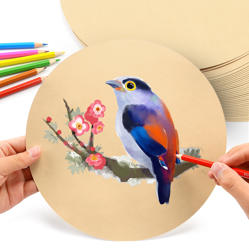 Artist Watercolor round colorful paper Sketch Drawing Different Painting paper
