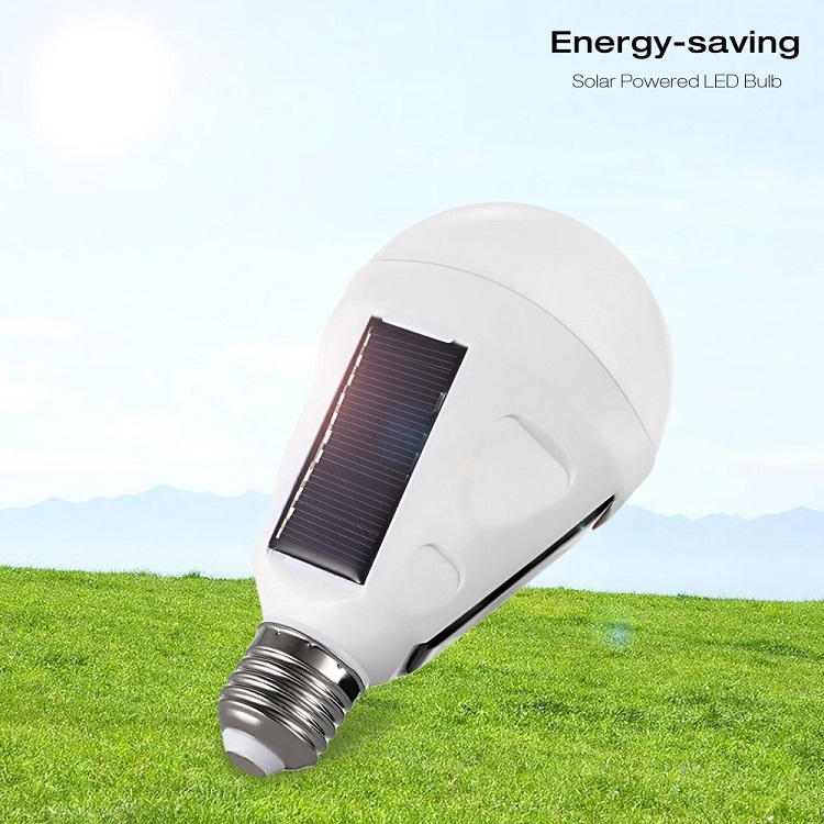 720LM E27 Solar LED Light <strong>Bulb</strong>, 12W Portable Rechargeable Lights Lamp for Indoor &amp; Outdoor