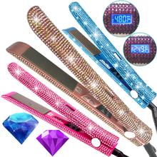 450 degrees crystal hair straightener pink bling diamond 480 digital ceramic <strong>irons</strong> titanium flat <strong>iron</strong> with custom private label
