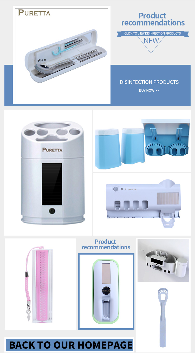 New Arrival Automatic UV Sterilization Toilet Closestool Sanitizer With LED Light Solar Panel Recharge