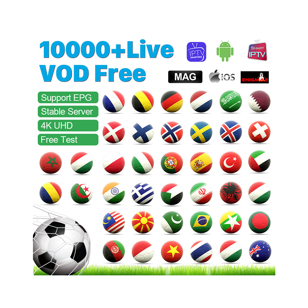 IPTV Subscription France Sweden Norway Denmark <strong>12</strong> Month 10000+ IPTV German Arabic Portugal Code Reseller Panel <strong>Android</strong> M3u