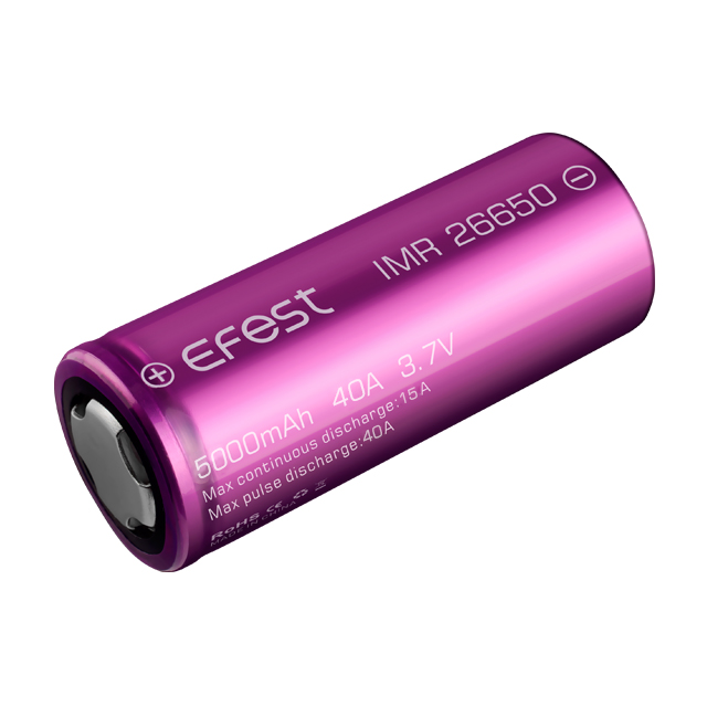 Efest wholesale 26650 3.7v li-ion 40A 5000mah lithium ion battery cell for power tool