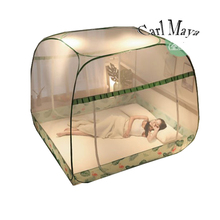 Lace Polyester Insect Mesh Mosquito Net Mosquito Bed Net Automatic Installation Bed Netting <strong>Tent</strong> With Zipper Single Door