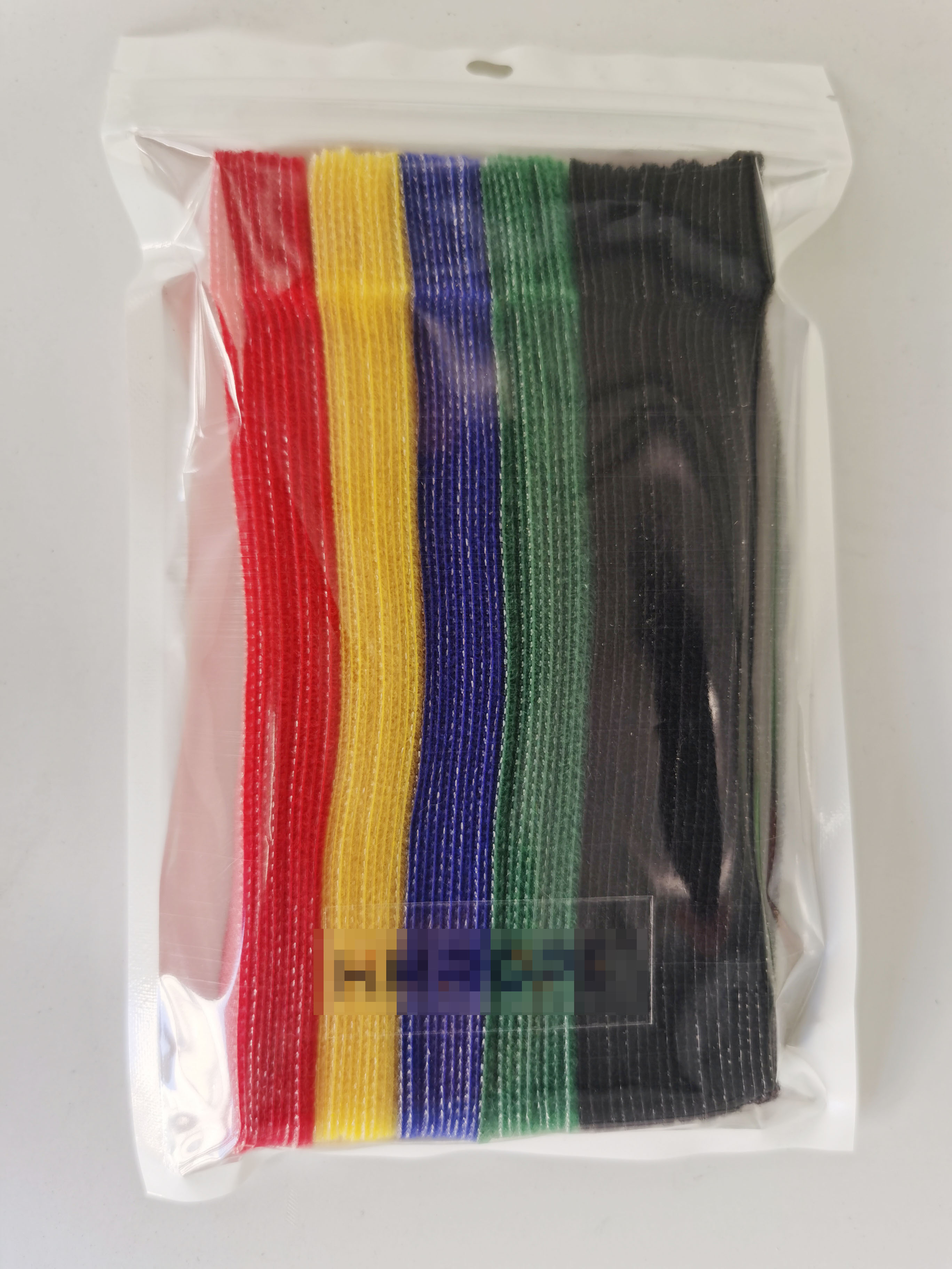 Stock Wholesale Back to Back Hook and Loop Strap Fastener Colorful Reusable Cable Ties Amazon hot