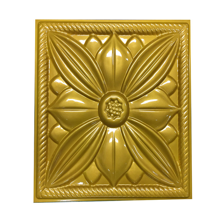 <strong>11</strong> 7/8&quot;<strong>W</strong> x <strong>11</strong> 7/8&quot;H Embossed gold flower Decorative 3D Wall Panel for household