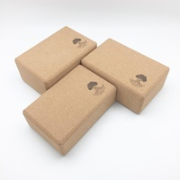 Fine Cork Grains Printed Custom Cork Yoga Block Set