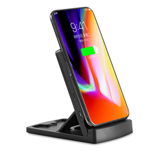 foldable flat wireless charger with stand for iphone/samsung