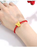 AB901102101 Xuping 2020 new design 24k gold color wholesale jewelry mouse design Zodiac red rope bracelet