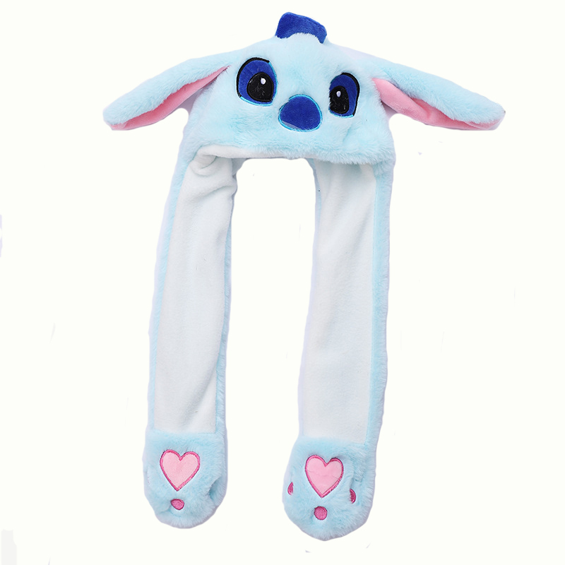 High Quality Tik Tok Hot New Animal Plush Ear Flap Moving Ear Jumping Rabbit Bunny Hat Bunny <strong>Cap</strong>