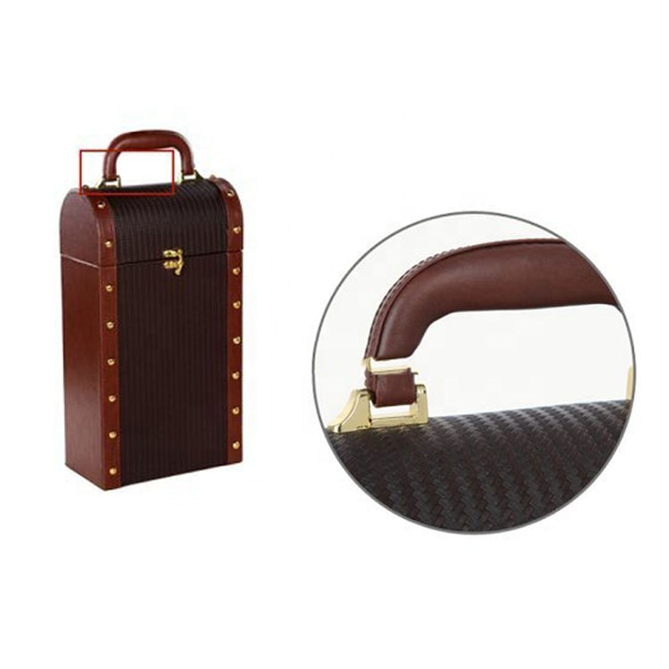 New Fashionable And Durable Custom Wooden Leather Wine Case