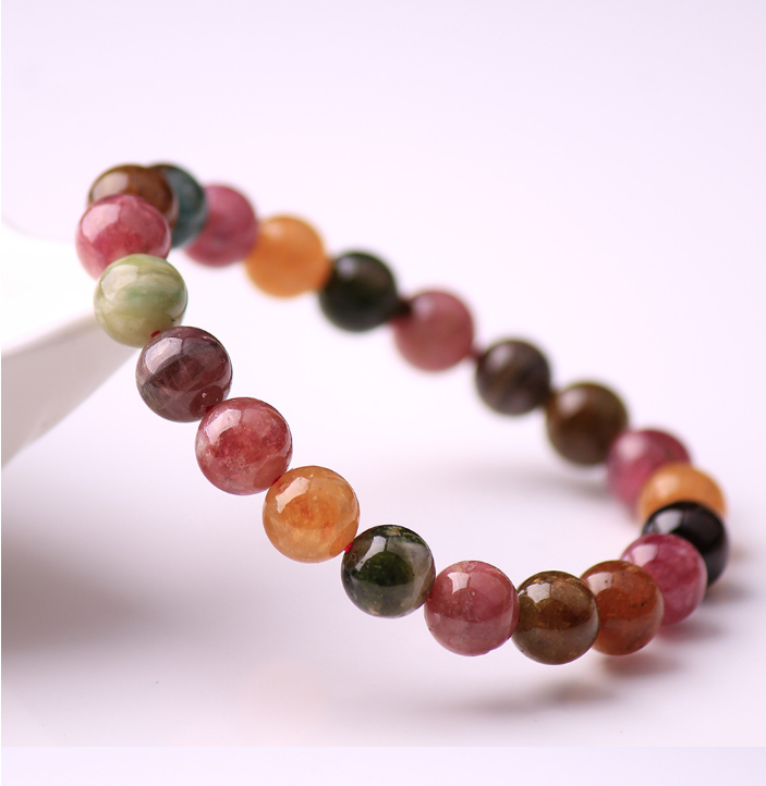 2019 Newest Factory price Euro hot sale colorful Tourmaline  beadsbracelet  for woman Christmas gift