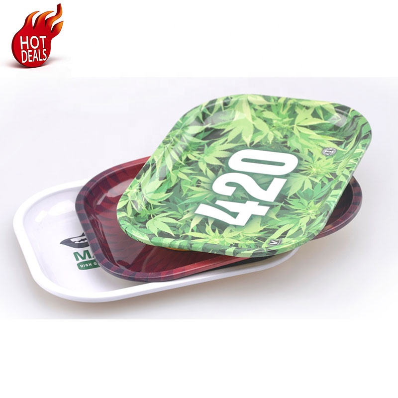 XJ081 New Arrival Cheap <strong>Price</strong> Customized Hot Salemetal weed tray Manufacturer from China