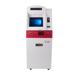 bank atm hotel self service payment kiosk with cash acceptor