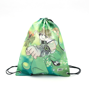 Free sample Customized Standard Recycled 210D Polyester Silk screen printing drawstring bags backpack