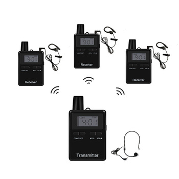 Two Way Digital Whisper Tour Guide Transmitter And Receiver Audio Guide System For Coaching Communication