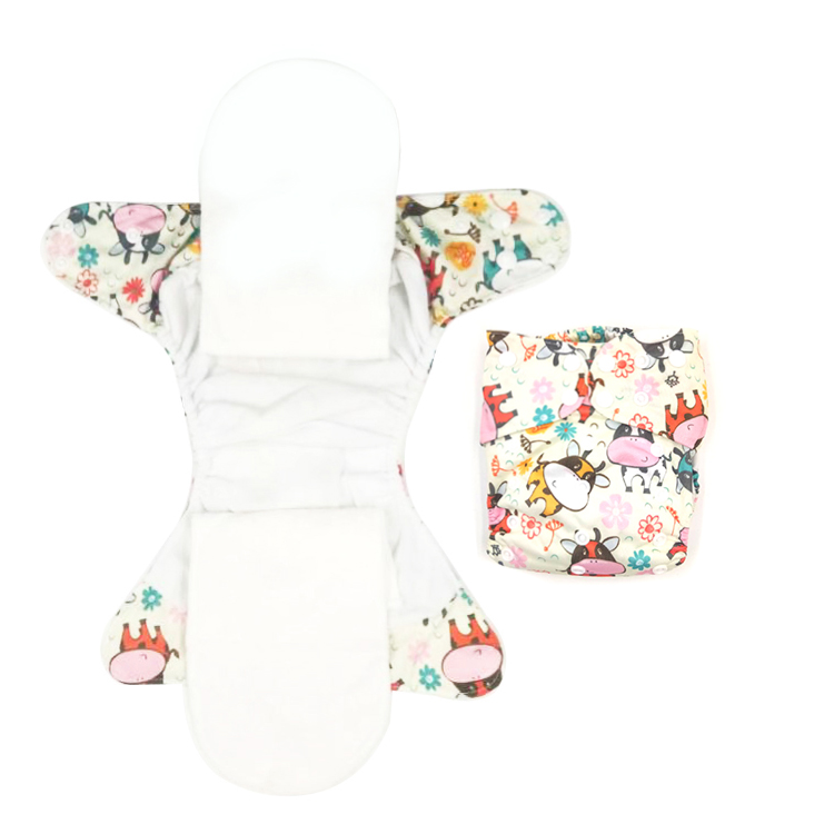Polyester Overnight AIO Newborn Diapers Tiny AIO Cloth Diaper Waterproof PUL Fit <strong>3</strong> to 6KG Baby