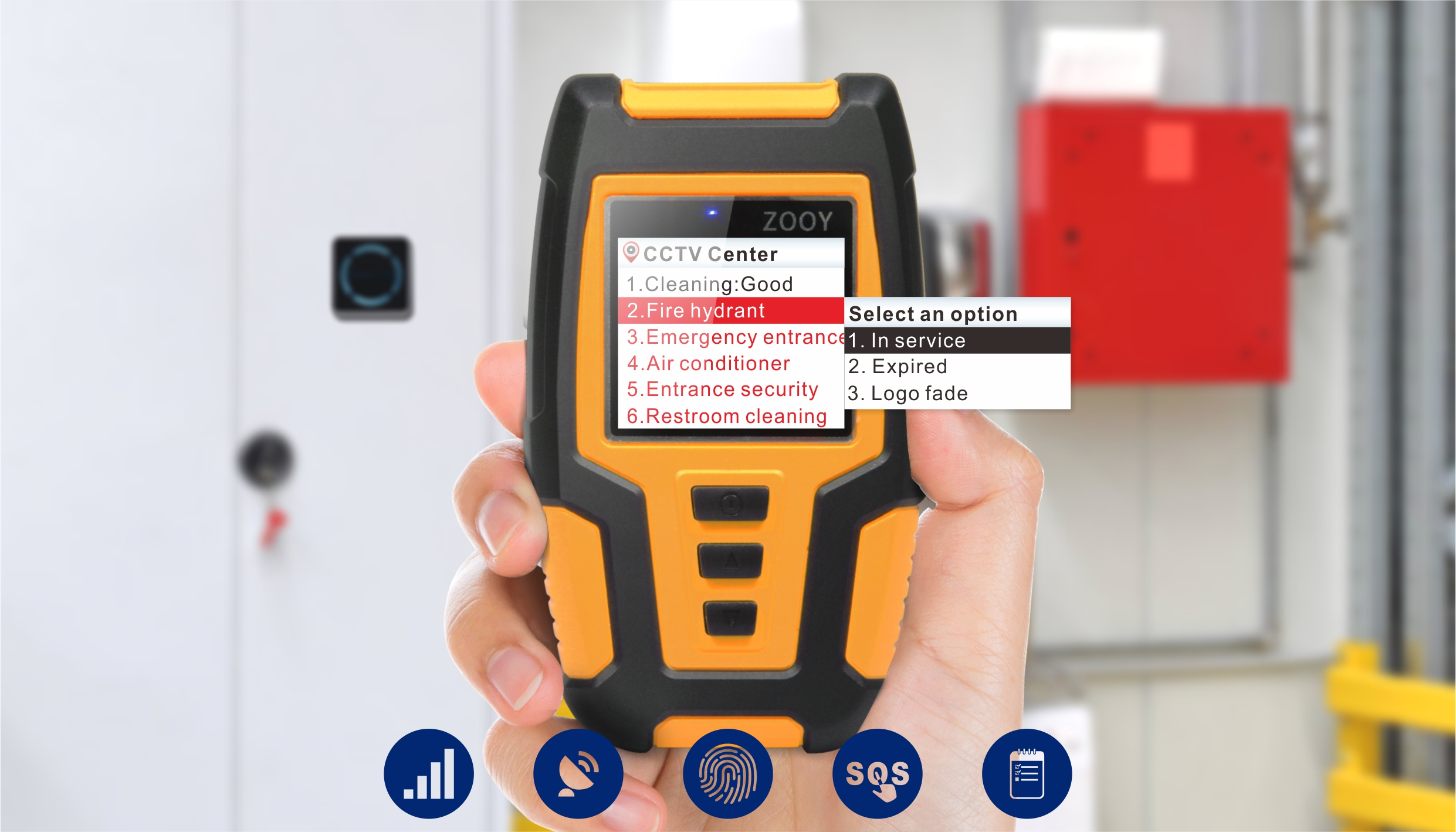 ZOOY Z-6900F Biometric Fingerprint 2G 3G 4G Guard Patrol System for Security Rounds Verification With Web Based Software