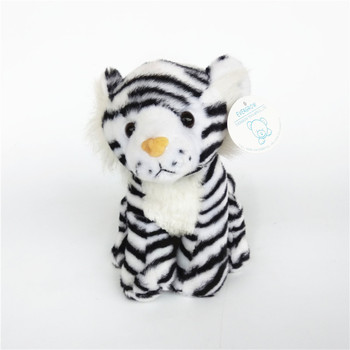 custom gift manufacturer direct small 20cm cute black strips white tiger plush