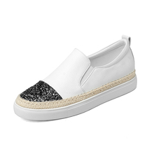 Wholesale With Sequins Platform Women Espadrilles <strong>Flat</strong> Slip-On Shoes