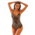 Wholesale Spaghetti Strap Backless Leopard Printed Teddy Lingerie