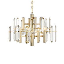 Modern light luxury chandelier living room bedroom restaurant golden crystal creative simple atmosphere designer <strong>lamps</strong>