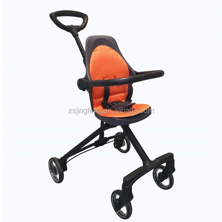 Hot Sale Fashion High End Leather Handle Bar Lightweight Foldable Traveller Stroller