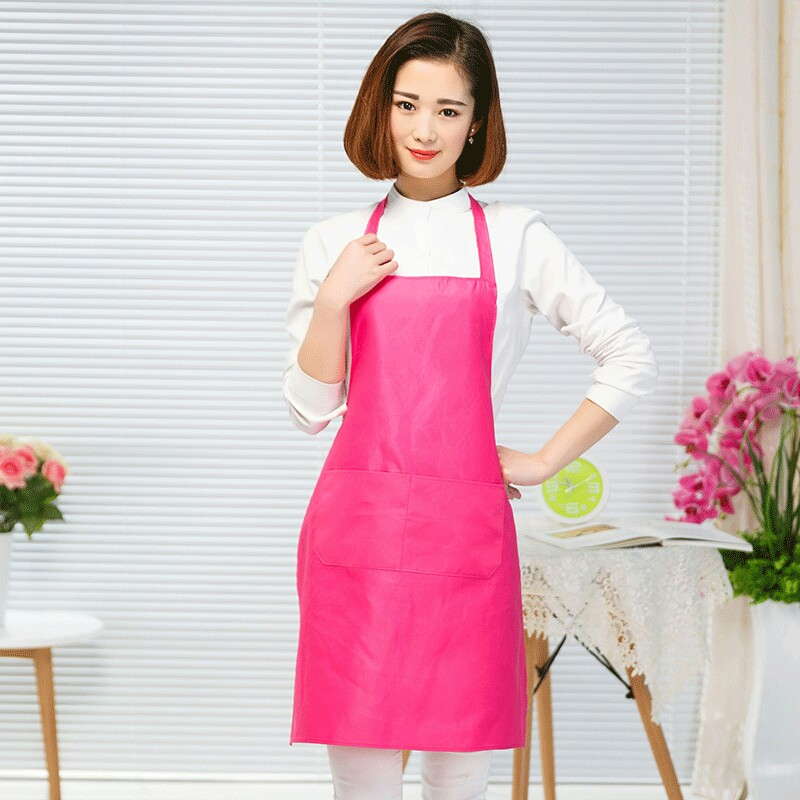 wholesales custom cheap waterproof logo simple apron for adults