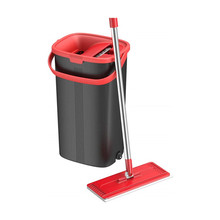 Flat Floor Mop and Bucket Set for Professional Home Cleaning <strong>System</strong> with Aluminum Handle Washable Microfiber Pad,Hardwood, Tiles