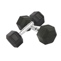 Gym exercises Weight Lifting Black Color Cast Iron Fixed Eco-friendly Rubber Coated Hex Dumbbell