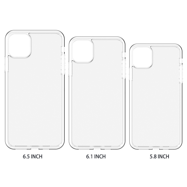 Transparent for iphone 11 5.8  plating phone case with packaging soft tpu bling phone case