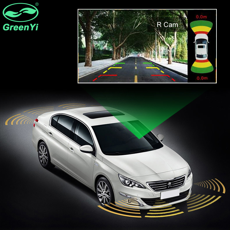<strong>p008</strong> GreenYi Car Parking Sensors 8 Radars Video Parking System Alarm Speaker Parking Assistance Car Accessories Parktronic