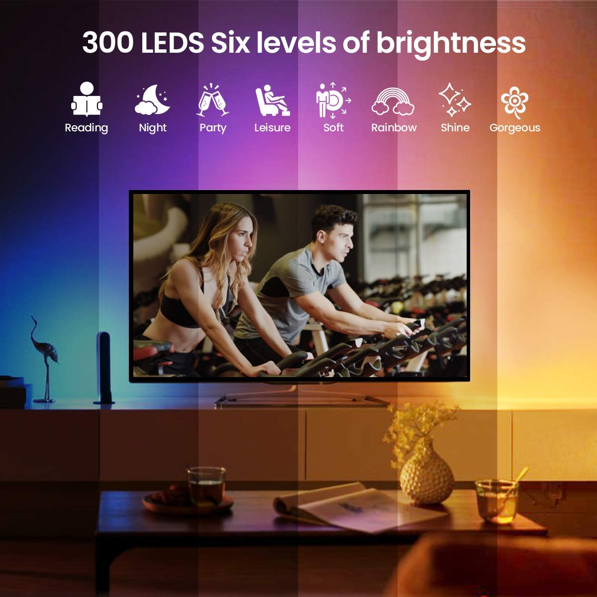 Tuya Smart Wifi LED Strip Lights 150 LEDs Flexible Led Strip Lights Wifi Control Addressable RGB Led Strip Light