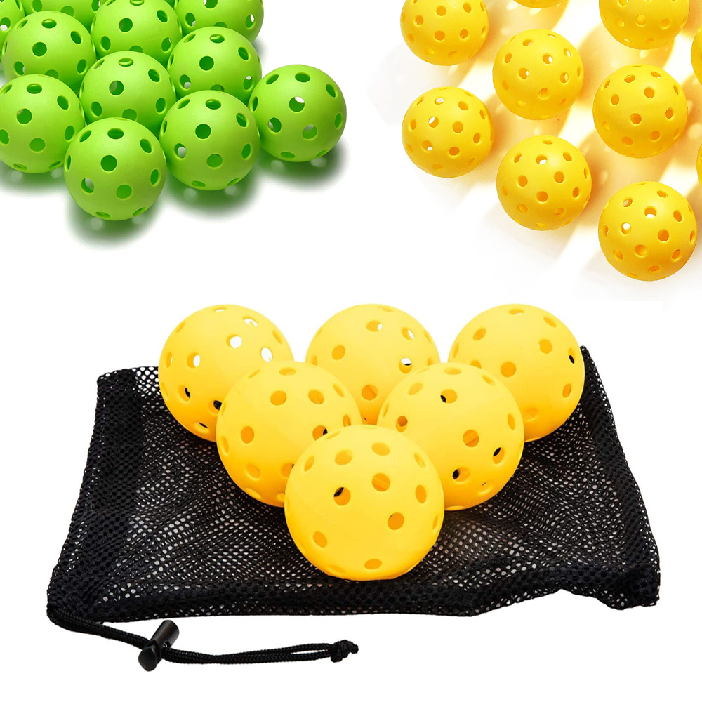 USAPA approved 26/40 hole hollow ball outdoor indoor pickleball for family game sports