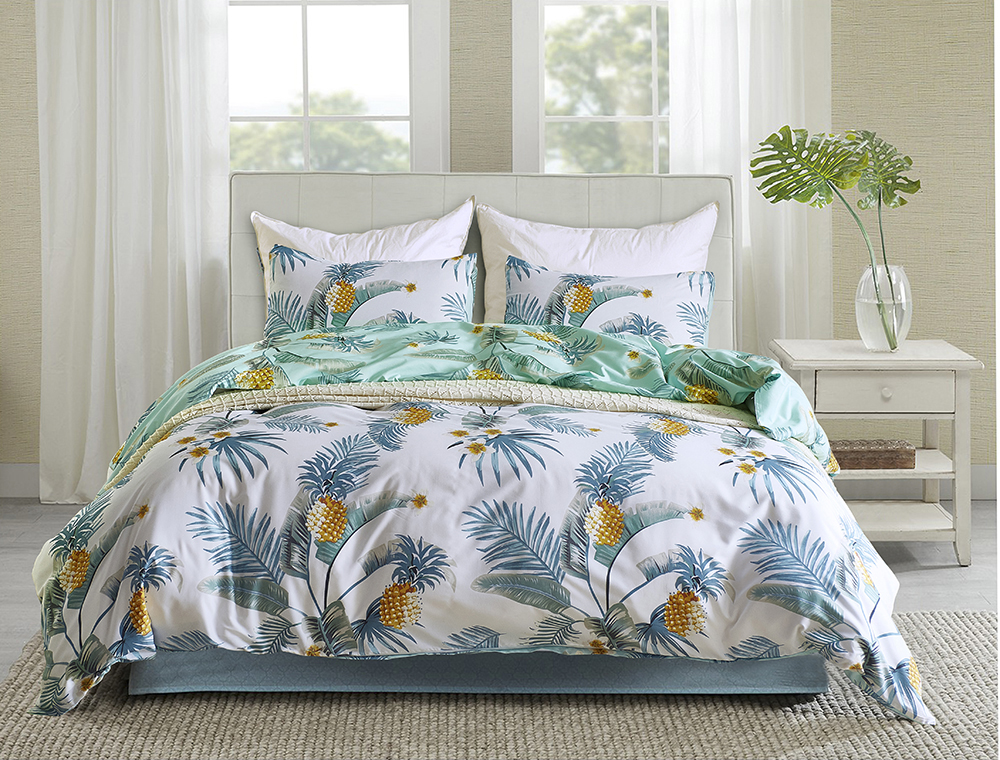 hot sale cheap twin size tree pattern printing bedding set