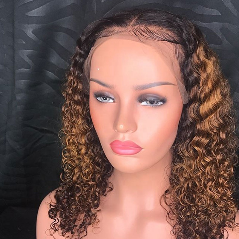Baby Hair Kinky Curly Natural Color Remy Human Hair Wigs High Quality Brazilian hair wigs fro black women full lace wig