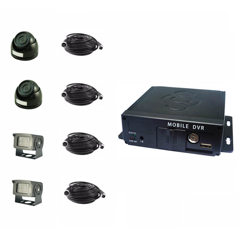 Camera Security System 4CH Bus Truck Car Video Recorder <strong>4</strong> <strong>Channel</strong> <strong>DVR</strong>