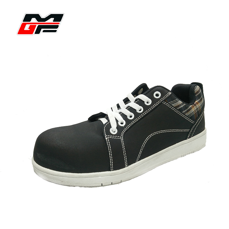 Mens fashion safety boots cemented construction pu nubuck leather for sport shoes