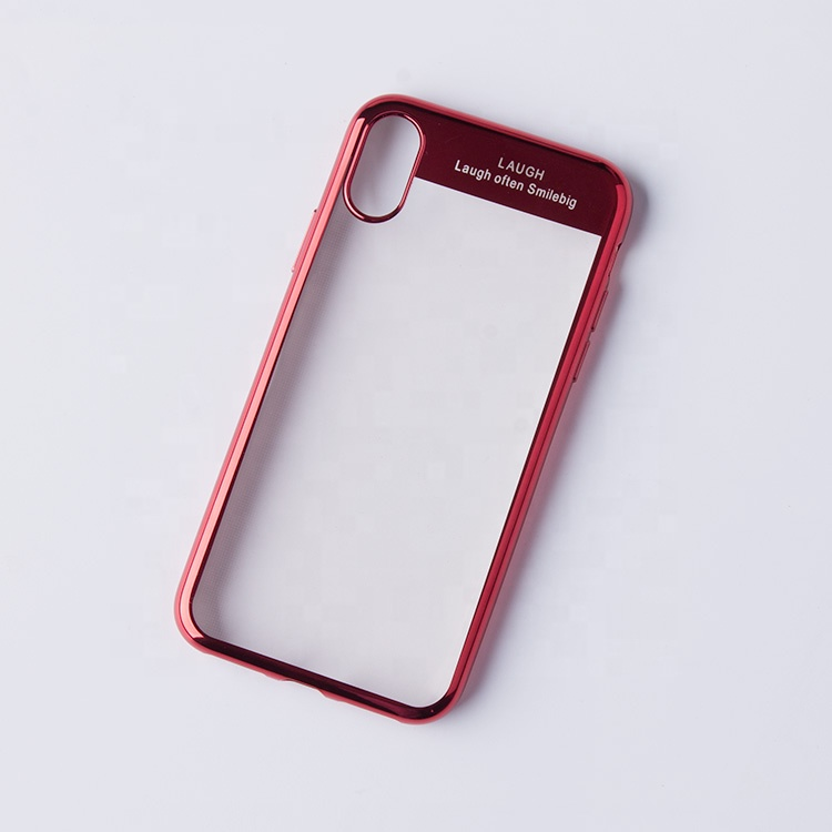 For iphone X soft tpu <strong>phone</strong> case; electroplating tpu bumper transparent back cover for apple iphone tpu <strong>mobile</strong> shell