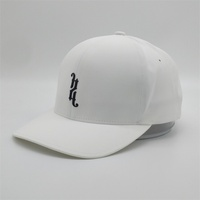 Wholesale Customised 6 Panel White Dry Fit Dad Hat,Flex Fitted Baseball Hats,Plain Fitness Closed Back Sport Caps