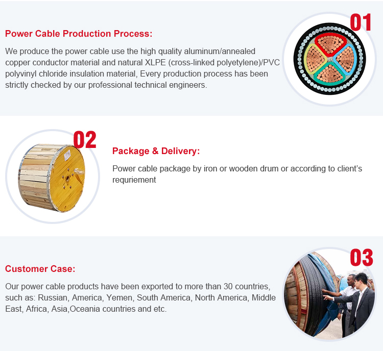 Underground armoured power cable cu xlpe swa pvc size xlpe 4 core armoured electric copper power cable