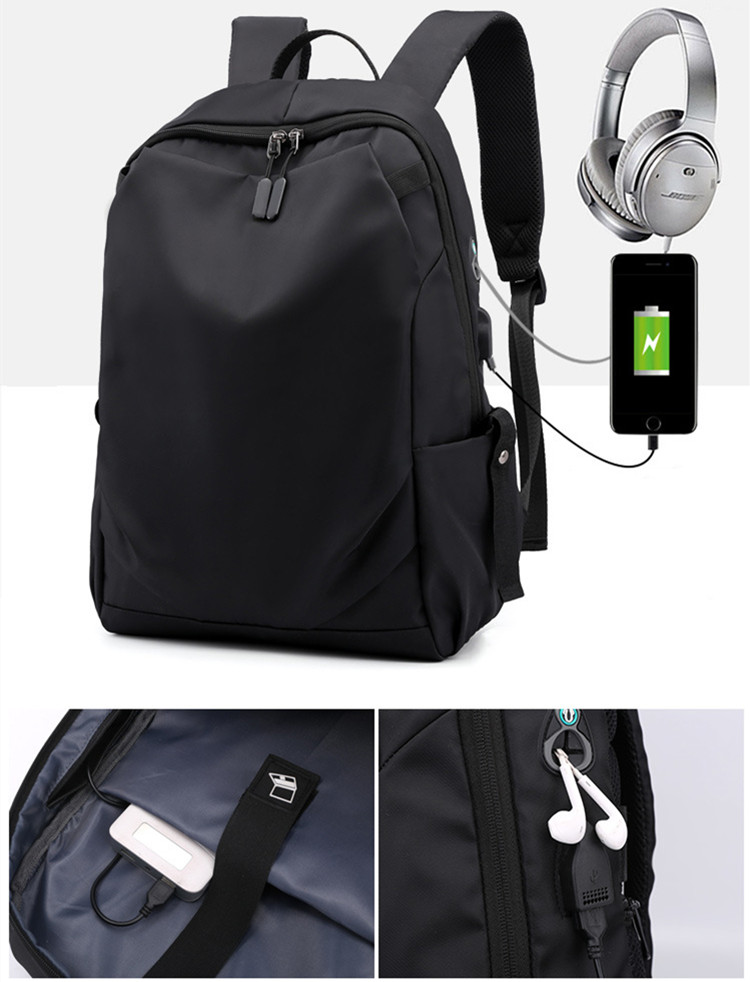 New Fashion Backpack With USB Charge Port Muliti-Function Backpack Bags For Business Traveling