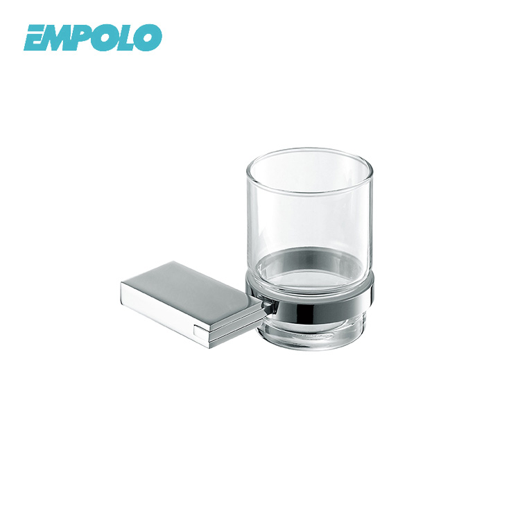Wall Mounted Bathroom Glass Cup and Tumbler Holder Suitable For Hotel Household