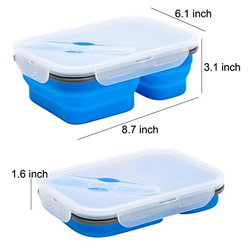 Best Selling Eco-Friendly Silicone Foldable Food Container Lunch Box