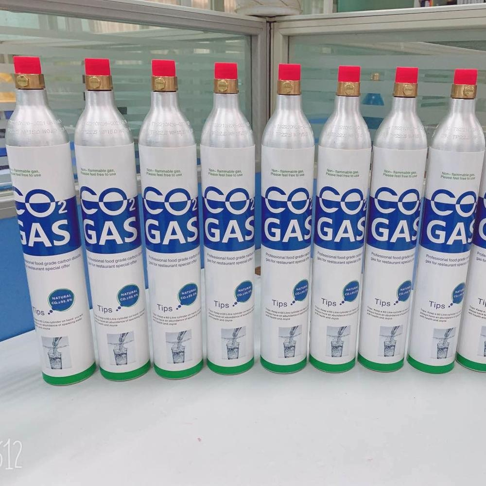 150bar Aluminum soda water CO2 gas <strong>Cylinder</strong>