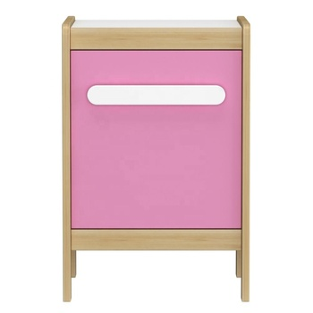 Bedroom kids blue night stand bedside table wood modern for girl