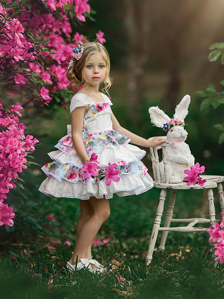 2020 children's wedding flower girl dress autumn girl Princess dress